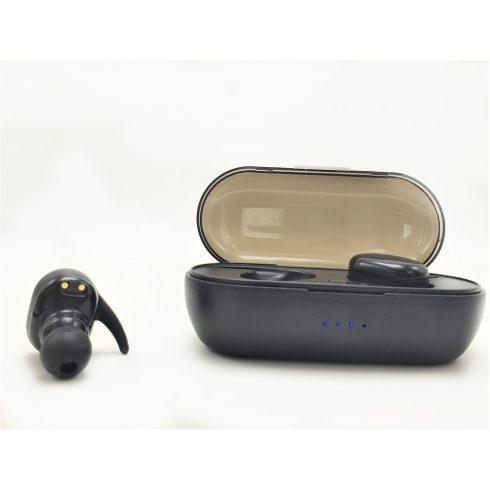 Bluetooth fülhallgató TWS-03 fekete, érintésérzékeny