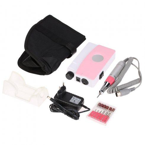 Profi hordozható, tölthető műköröm csiszológép készlet DM-208 portable