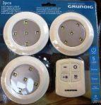 Grundig 3 db-os led világítás távirányítóval