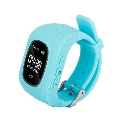 Q50-P gyermek okosóra GPS-sel - világoskék