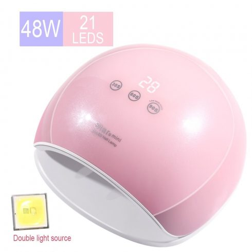 SilverHome Star5 mini 48W UV / LED lámpa - pink