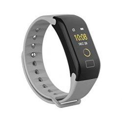 Bluetooth aktivitásmérő színes kijelzővel - szürke szíj, vízálló F1C