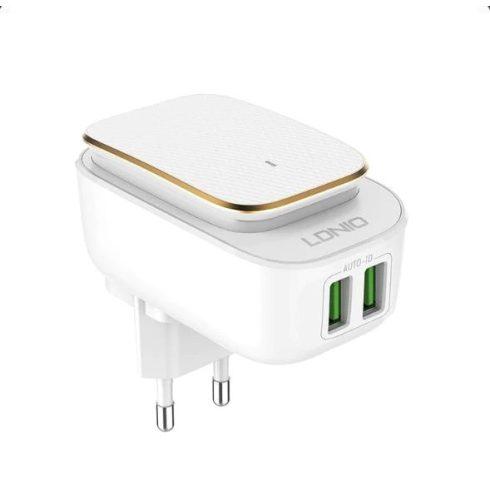 LDNIO 2 portos töltő Android készülékekhez - USB C