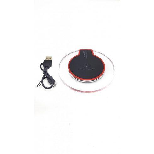 SilverHome - Fantasy vezeték nélküli töltő android microUSB adapterrel - fekete