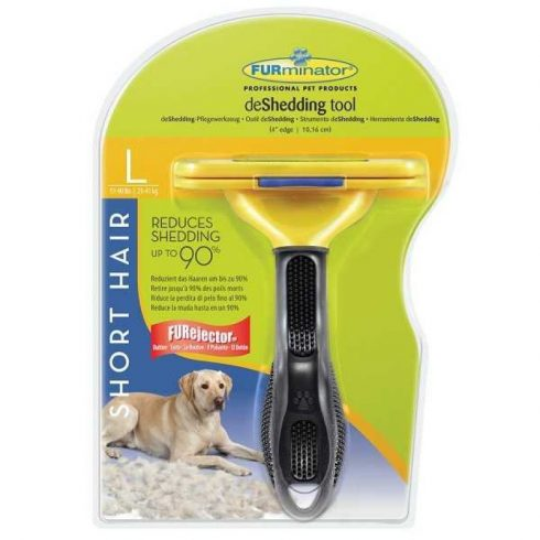 "FURminator rövidszőrű kutya aljszőrkefe ""L"" méret"