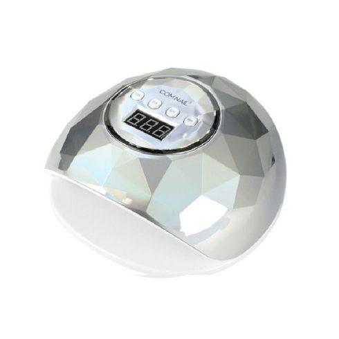 SilverHome F6 LED/UV műkörmös lámpa 86W - ezüstmetál