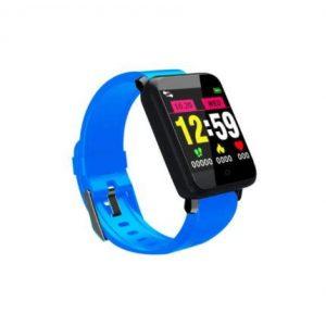 Bluetooth aktivitásmérő színes kijelzővel - kék szíj, vízálló F1v2.0