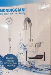Digitális átfolyós vízmelegítős csaptelep zuhanyfejjel