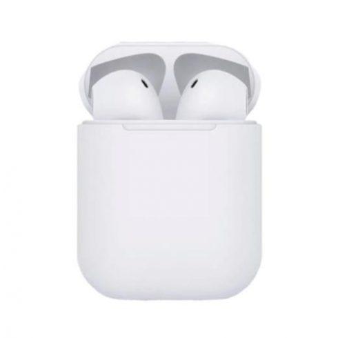 Bluetooth fülhallgató i12 5.0 tws 2019 fehér, érintésérzékeny