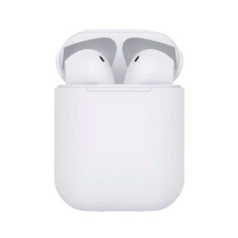 Bluetooth fülhallgató i12 5.0 tws fehér matt, érintésérzékeny inpods