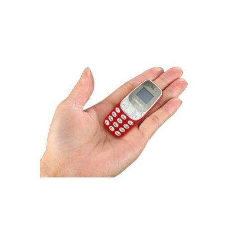 L8star BM10 nano méretű Mobiltelefon - piros