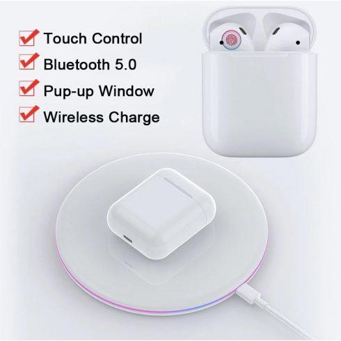 Bluetooth fülhallgató M20 5.0 tws fehér, érintésérzékeny