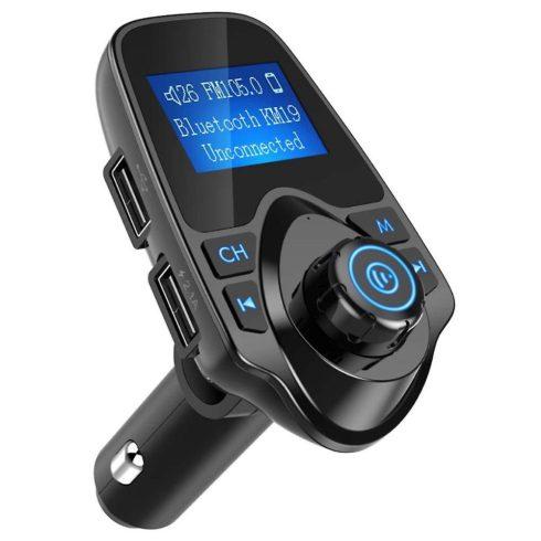 T11 szivargyújtós Bluetooth FM transmitter mp3 lejátszó