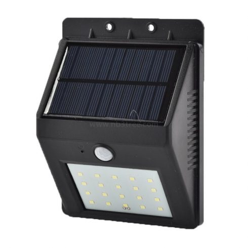 Napelemes, mozgásérzékelős 20 SMD LED lámp