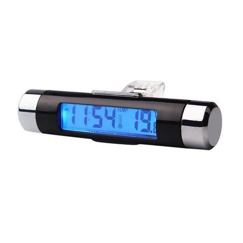 Autós hőmérő és óra , szellőzőrácsba rögzíthető