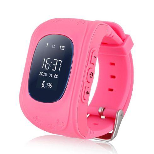 Q50-P gyermek okosóra GPS-sel - pink