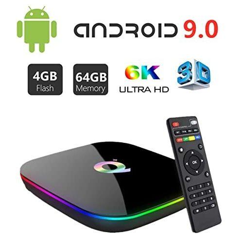 Smart TV adapter, Q PLus Ultra HD, Android 9.0 4GB Flash, 64GB ROM