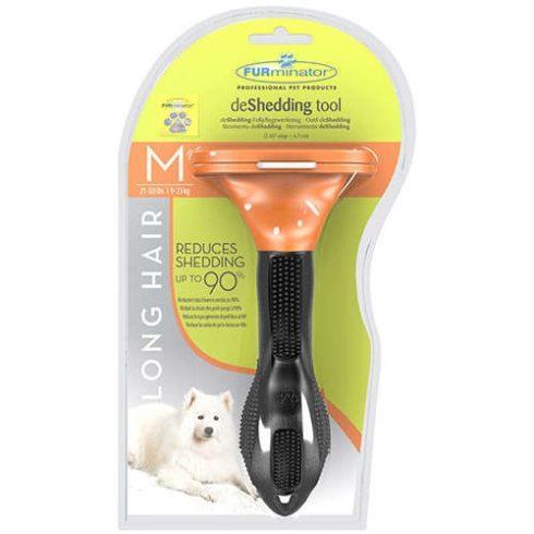 """FURminator hosszúszőrű kutya aljszőrkefe """"M"""" méret"""