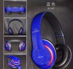 Bluetooth fejhallgató mikrofonal ,rádio fm és SD kártya ,P15 kék