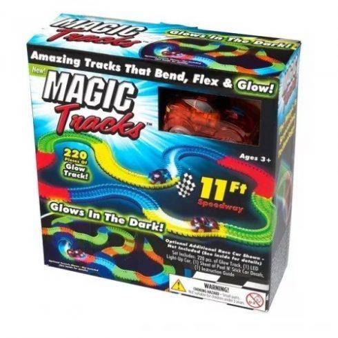 Magic Tracks mágikus autópálya LED-es kisautóval