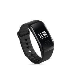 Aktivitásmérő okosóra, okoskarkötő nem csak sportolóknak / Vízálló digitális pulzus és vérnyomásmérő! fekete