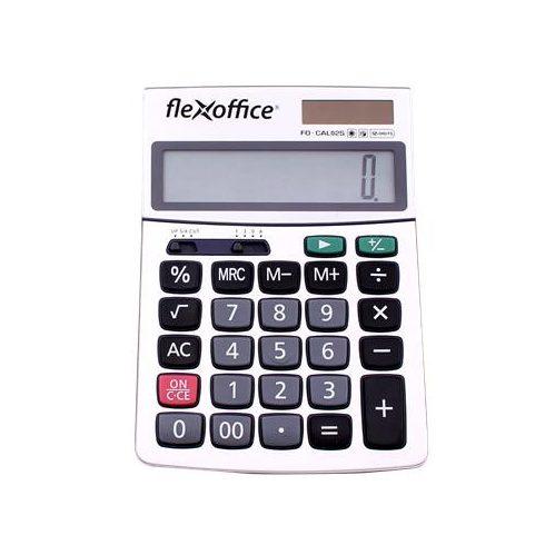 """Számológép, asztali, 12 számjegy, FLEXOFFICE """"FO-CAL02S"""", ezüst"""