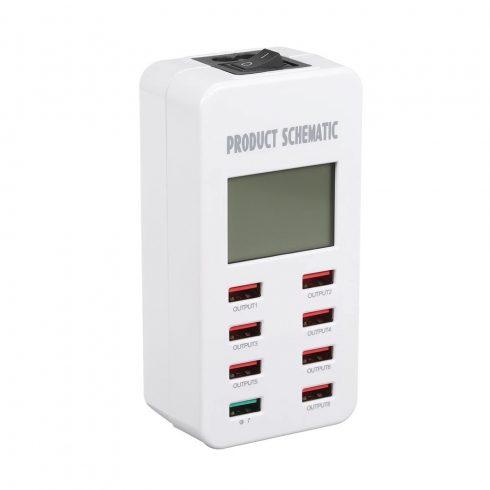 Smart USB töltő 8 port (A8) - TB-1231