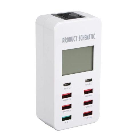 Smart USB töltő 8 port (A8T) - TB-1232