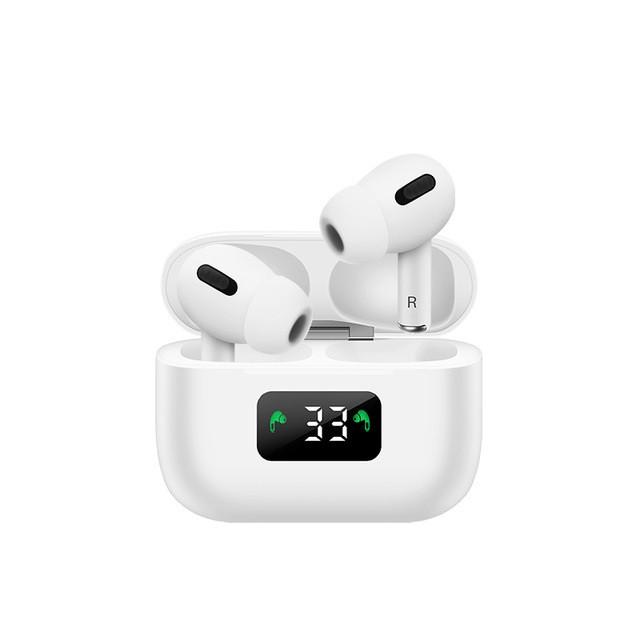 Bluetooth fülhallgató i58 5.0 tws fehér, digitális kijelzős 3.gen.