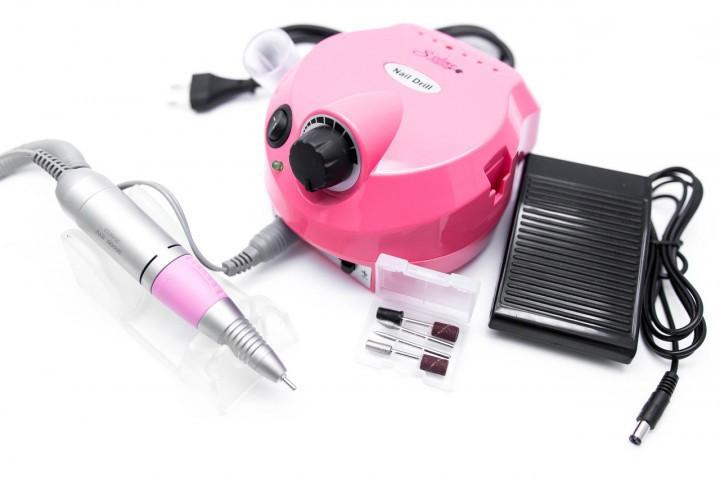 Profi pedálos műköröm csiszológép készlet DM-202 - pink