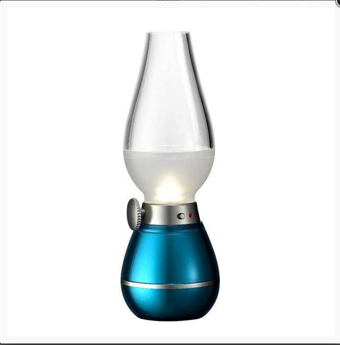 Elfújható retro 3 Led lámpa akkumulátoros petróleum lámpa formájú asztali lámpa - Csodalámpa