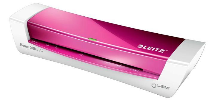 """Laminálógép, A4, 80-125 mikron, LEITZ """"iLam Home Office"""", rózsaszín"""