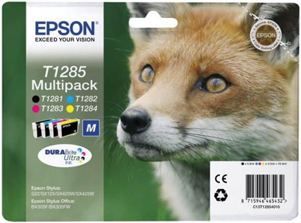T12854010 Tintapatron multipack Stylus S22, SX125 nyomtatókhoz, EPSON, b+c+m+y, 16,4ml